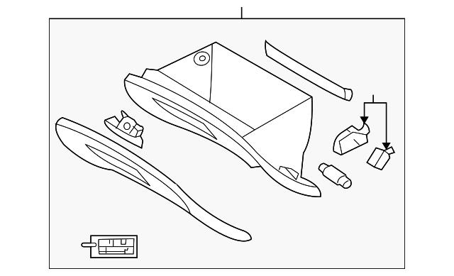 2010 kia sportage glove box assembly 84501