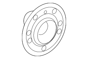 Rear-Axle Wheel Flange - Mercedes-Benz (166-357-09-00)