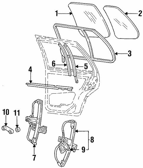 Oem Vw Door For 1999 Volkswagen Jetta