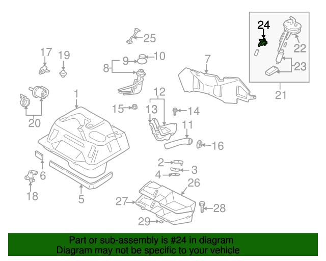 fuel pressure regulator - mazda (bp4w-13-280b)
