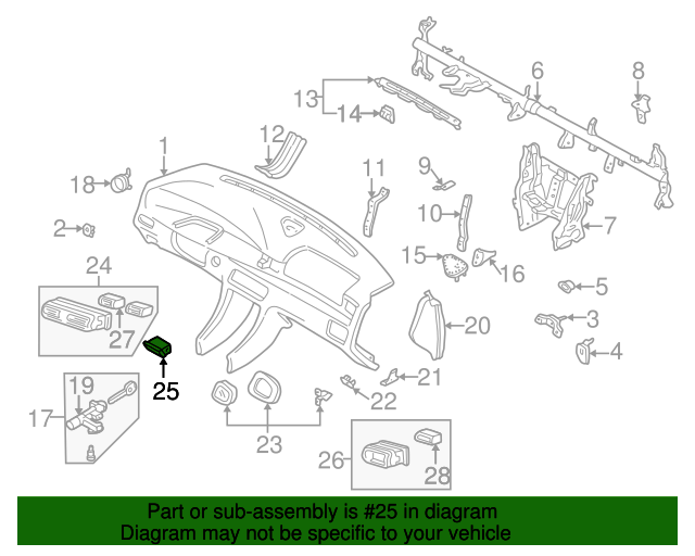 Vent embly - Mazda (T00164870A02) | Quirk Parts