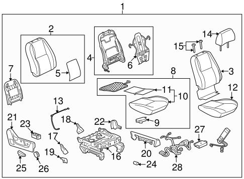 Oem 2012 Cadillac Escalade Front Seat Components Parts