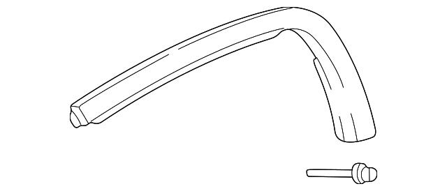 HONDA S2000 2000-2009 WINDSCREEN MOULDING OEM 73150 S2A 013
