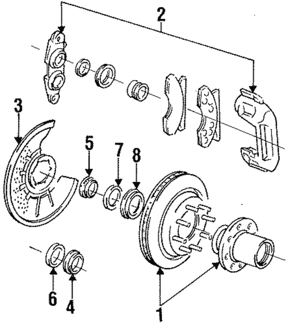 genuine ford bearing seal e4tz
