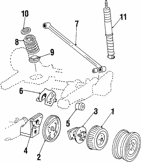 Rear Suspension For 1989 Pontiac 6000 Le