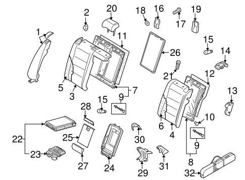rear seat components for 2012 volkswagen jetta #0