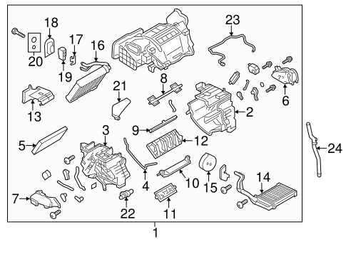 HVAC/Evaporator & Heater Components for 2012 Nissan Leaf #1