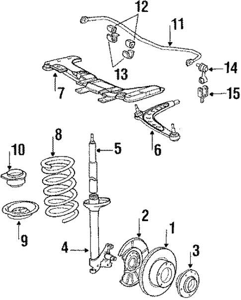 Front Suspension for 1988 BMW 325i #1