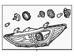Headlamp Assembly - Hyundai (92101-F3000)
