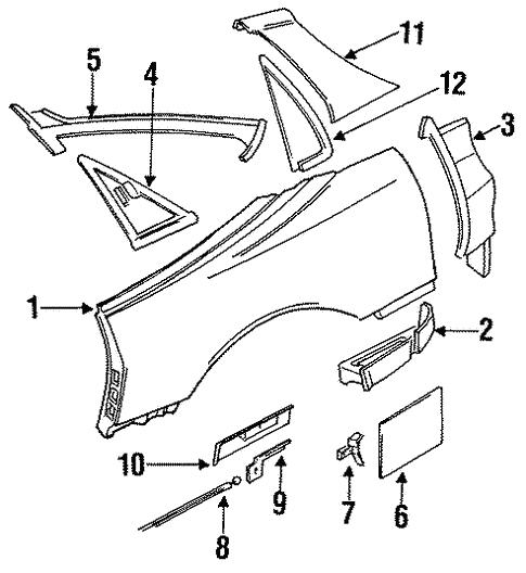 Quarter Panel Components For 1999 Mitsubishi 3000gt Sl