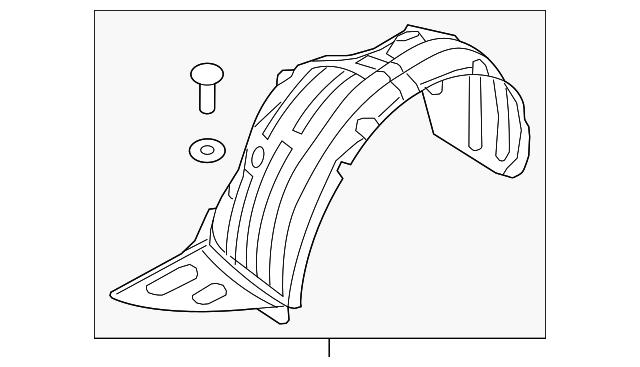 New Fender Liner Front Driver Left Side LH Hand for Sedona KI1248148 86811A9000