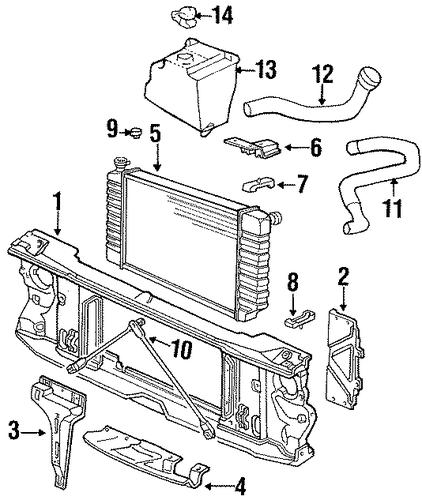 oem 1989 chevrolet c3500 radiator components parts. Black Bedroom Furniture Sets. Home Design Ideas