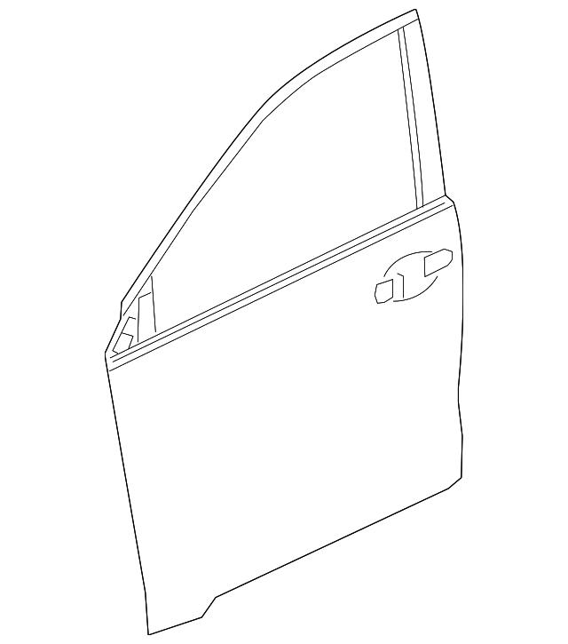 2016 2017 Honda Hr V 5 Door Skin R Front Door 67111 T7j H00zz