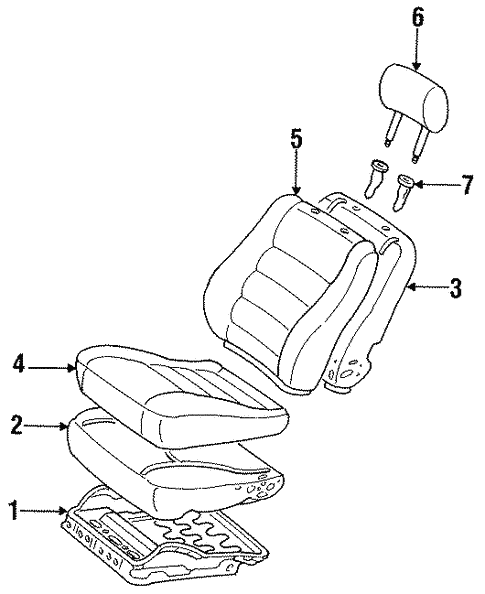 Front Seat Components For 1996 Toyota Corolla