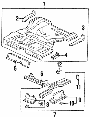 Panel Set, Rear Floor