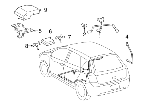 2 furthermore 1997 Chevrolet 1500 Antenna Replacement additionally Pontiac Vibe Ignition Wiring Diagram in addition Pontiac Solstice Rear Wiring Harness as well Strereo Wire Harness For 2003 Pontiac Vibe. on pontiac vibe antenna