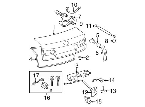 Lid & Components for 2008 Lexus IS250 #0