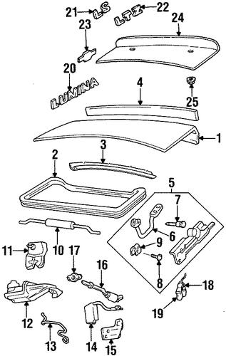 oem 1999 chevrolet lumina trunk parts