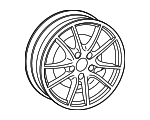 Alloy Wheel Platinum - Porsche (982-601-025-AJ-OB5)