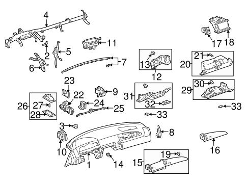 Instrument Panel Components for 2006 Lexus SC430 | KeyesLexusParts