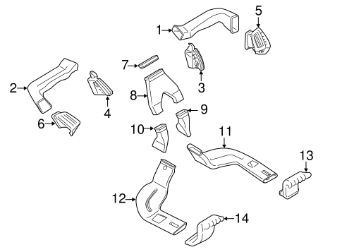 Body/Ducts for 2016 Ford Transit Connect #1