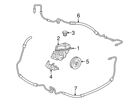 oem pump & hoses for 2005 pontiac bonneville ... 2005 pontiac bonneville engine diagram 2000 pontiac bonneville engine diagram