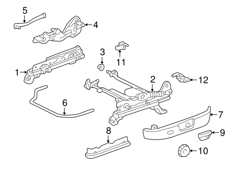 BODY/TRACKS & COMPONENTS for 1997 Toyota Camry #2