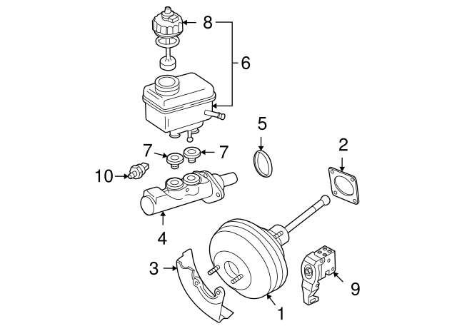 1993 2018 Volkswagen Master Cylinder Plug 357 611 817