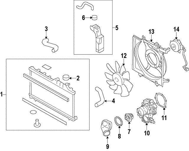 Radiator Assembly - Subaru (45111AL04A)