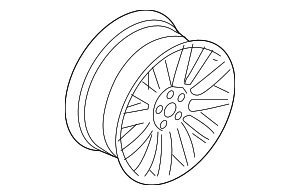 Wheel, Alloy - BMW (36-11-6-764-863)