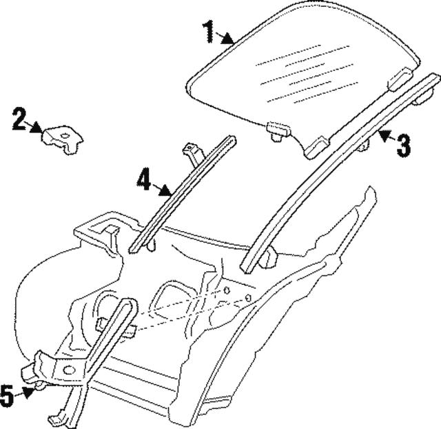 1995 1999 Dodge Glass Stabilizer 4615678