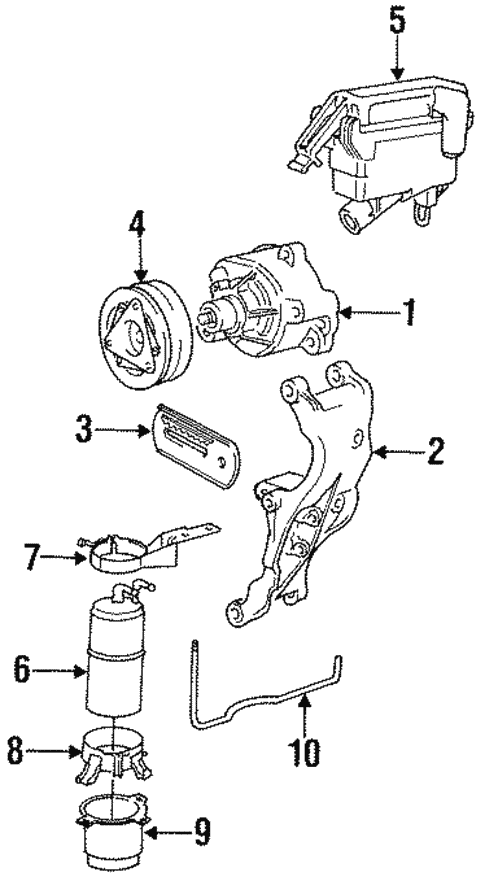 Emission Components for 1993 BMW 525iT #0