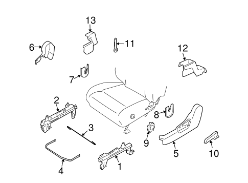 Tracks & Components for 2004 Subaru Forester #1