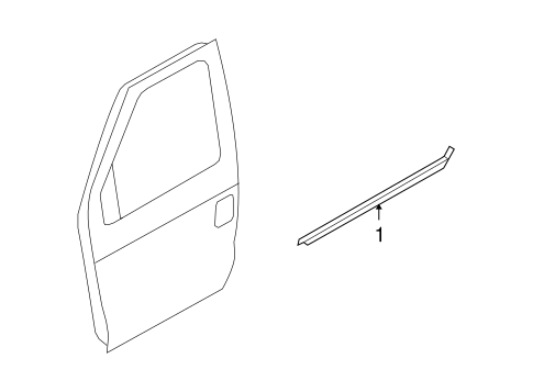 Body/Exterior Trim - Front Door for 2009 Ford E-350 Super Duty #1