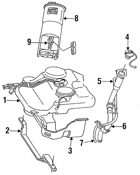 Fuel System Components For 1996 Chrysler Lhs