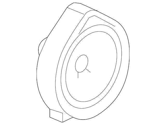 Pioneer Single Genuine Speaker Assembly 17CM 39120-TA0-A01