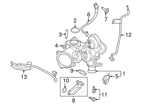 Turbocharger Components For 2013 Ford Fusion Eastgate Ford Parts Ca