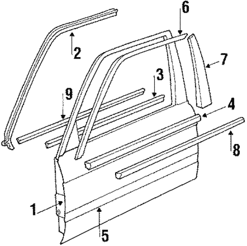 Front Door for 1991 BMW 325i #1