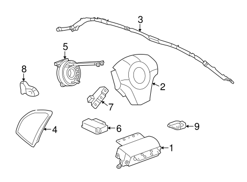 Air Bag Components For 2009 Saturn Vue