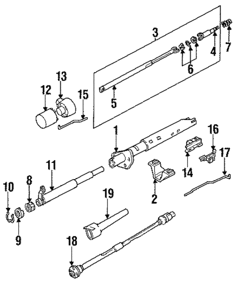 [CSDW_4250]   Steering Column Components for 1991 Chevrolet S10 Blazer (Base) | GMPartsNow | 1991 S10 Steering Column Wiring Diagram |  | GMPartsNow