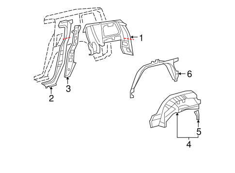 BODY/INNER STRUCTURE for 2009 Toyota FJ Cruiser #1
