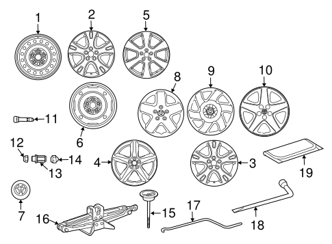 FRONT SUSPENSION/WHEELS for 2003 Toyota Matrix #1