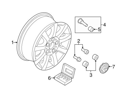 Oem Vw Wheels For 2017 Volkswagen Beetle