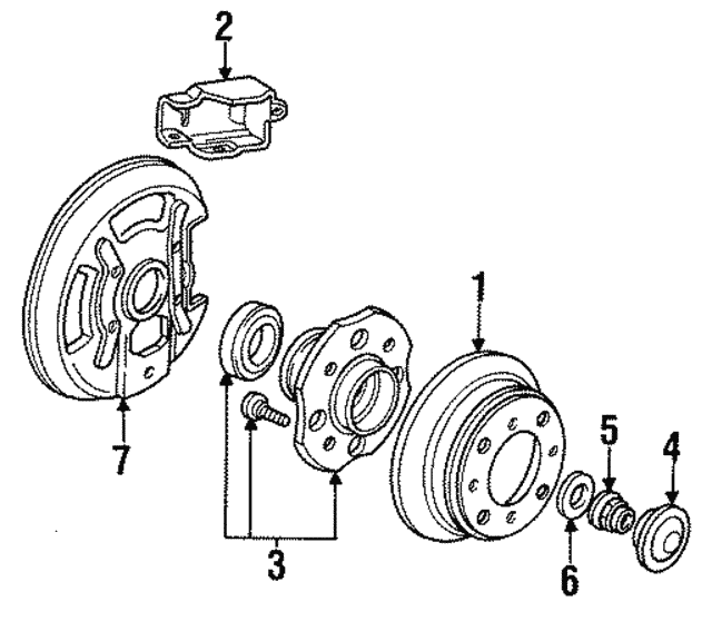 Disk, Rear Brake - Acura (42510-SL5-950)
