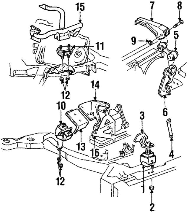 torque strut mount bracket gm 3521040 gmpartsdirect Black 1991 Cadillac Eldorado torque strut mount bracket