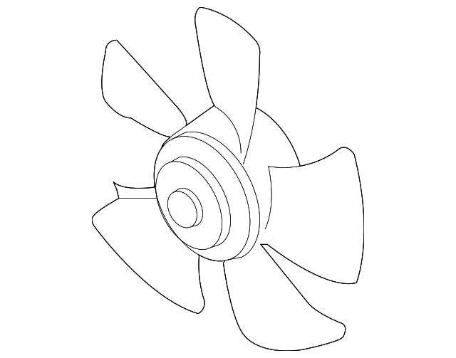 2005 2008 Chevrolet Fan Blade 93740672