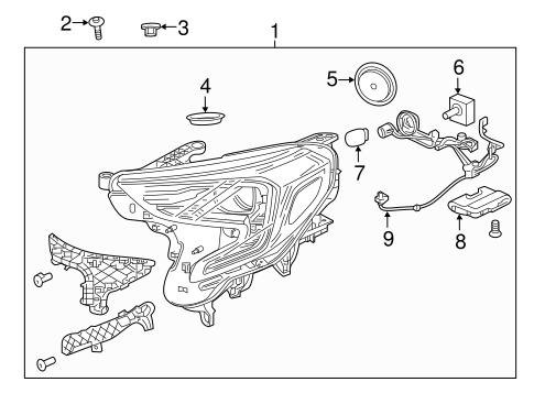 Headlamp Components For 2018 Gmc Terrain Gmpartsnow