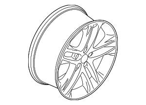 Wheel, Alloy - Ford (EJ7Z-1007-K)