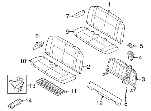 Body/Second Row Seats for 2012 Ford E-150 #1