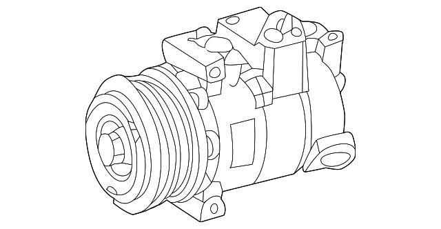 Mercedes Benz Remanufactured Compressor 000 230 70 11 80